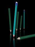 Composición de lápices Foto de archivo libre de regalías