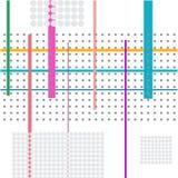 Composición de líneas y de puntos ilustración del vector