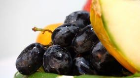 Composición de la baya de la fruta almacen de video