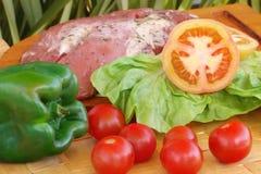 Composición de la carne fresca Foto de archivo libre de regalías