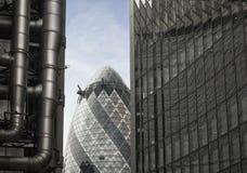 Composición de la configuración de Londres con el pepinillo Foto de archivo