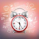 Composición de la estrategia empresarial del reloj ilustración del vector