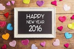 Composición de la Feliz Año Nuevo Imagen de archivo libre de regalías
