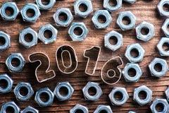 Composición de la Feliz Año Nuevo Imágenes de archivo libres de regalías