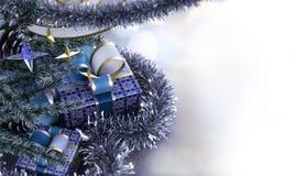 Composición de la Feliz Año Nuevo y de la Feliz Navidad Imágenes de archivo libres de regalías