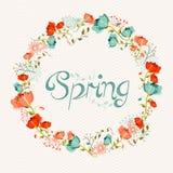 Composición de la flor de la guirnalda de la primavera Fotografía de archivo libre de regalías