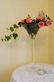 Composición de la flor en el vidrio Foto de archivo