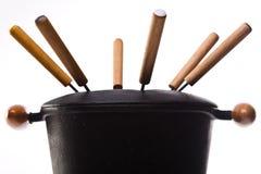 Composición de la 'fondue' Imágenes de archivo libres de regalías
