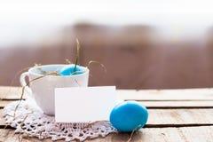 Composición de la foto de los huevos de Pascua Fotos de archivo