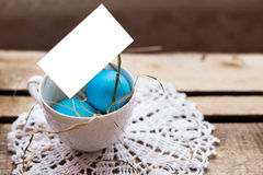 Composición de la foto de los huevos de Pascua Fotos de archivo libres de regalías