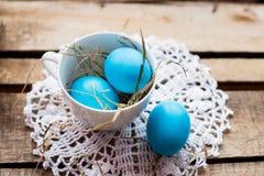 Composición de la foto de los huevos de Pascua Imágenes de archivo libres de regalías