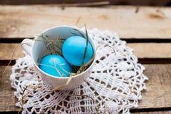Composición de la foto de los huevos de Pascua Imagenes de archivo