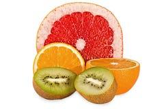 Composición de la fruta aislada Fotos de archivo libres de regalías