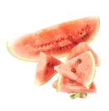 Composición de la fruta de la sandía aislada Fotografía de archivo