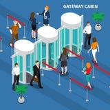 Composición de la identificación del acceso de la cabina de la entrada libre illustration