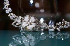 Composición de la joyería hermosa para la novia Foto de archivo