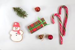 Composición de la luz de la Navidad y del Año Nuevo Foto de archivo libre de regalías