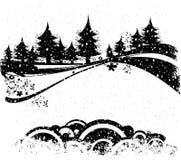 Composición de la Navidad ilustración del vector