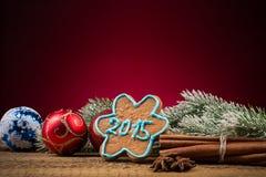 Composición 2015 de la Navidad Fotos de archivo libres de regalías