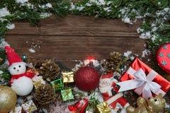 Composición de la Navidad Foto de archivo
