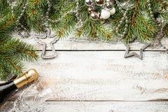 Composición de la Navidad con el árbol de abeto Fotografía de archivo libre de regalías