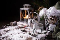 Composición de la Navidad con el cono del pino Fotos de archivo libres de regalías