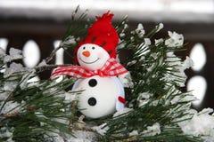 Composición de la Navidad con el muñeco de nieve Imágenes de archivo libres de regalías