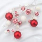 Composición de la Navidad con las bolas Imagen de archivo