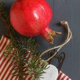 Composición de la Navidad conos Ramas del abeto Fotografía de archivo libre de regalías
