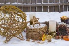 Composición de la Navidad en el jardín Imagen de archivo libre de regalías