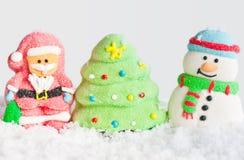 Composición de la Navidad en la nieve Imagenes de archivo