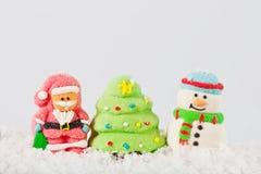 Composición de la Navidad en la nieve Foto de archivo libre de regalías