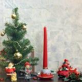Composición de la Navidad Humor del invierno Decoraciones de la Navidad
