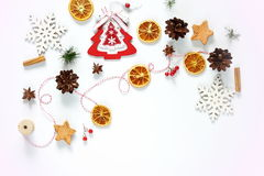 Composición de la Navidad Regalo, decoración de la Navidad Imagen de archivo