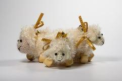 Composición de la Navidad Símbolo de 2015 - ovejas Imágenes de archivo libres de regalías
