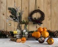 Composición de la Navidad y del Año Nuevo Fotos de archivo libres de regalías