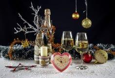 Composición de la Navidad y del Año Nuevo Imágenes de archivo libres de regalías