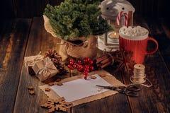 Composición de la Navidad y del Año Nuevo fotografía de archivo libre de regalías