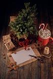 Composición de la Navidad y del Año Nuevo foto de archivo