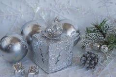 Composición de la Navidad y del Año Nuevo Fotos de archivo