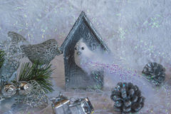 Composición de la Navidad y del Año Nuevo Fotografía de archivo