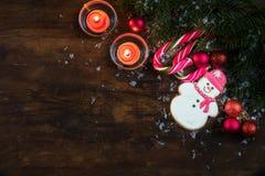 Composición de la oscuridad de la Navidad y del Año Nuevo Imagen de archivo libre de regalías