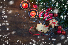 Composición de la oscuridad de la Navidad y del Año Nuevo Imagenes de archivo
