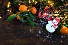 Composición de la oscuridad de la Navidad y del Año Nuevo Fotografía de archivo