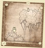 Composición de la planta de la tarjeta de felicitación del vintage Foto de archivo libre de regalías