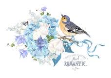 Composición de la primavera de la hortensia libre illustration