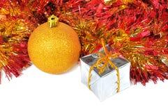 Composición de las bolas de la Navidad Foto de archivo