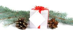 Composición de las decoraciones de la Navidad Fotos de archivo libres de regalías