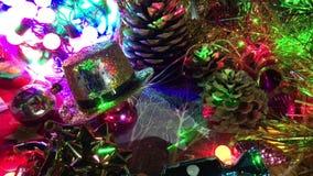 Composición de las diversas decoraciones de la Navidad metrajes