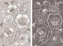 Composición de las flores decorativas Foto de archivo